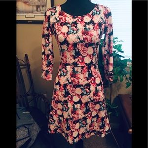 NWT:BRIXON IVY DRESS: Pink Floral with pockets! XS